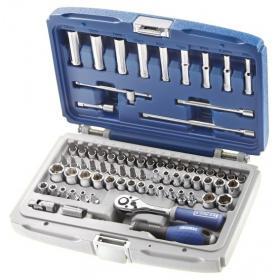"""E030707 - 1/4"""" Socket and accessory set, 4- 14 mm, 1/2"""" - 9/32"""", T6-T40, E4-E10"""