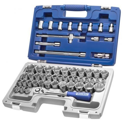 "E032909 - 1/2"" Socket and accessory set 8 - 34 mm, 3/8"" - 1""1/4, E10 - E24"