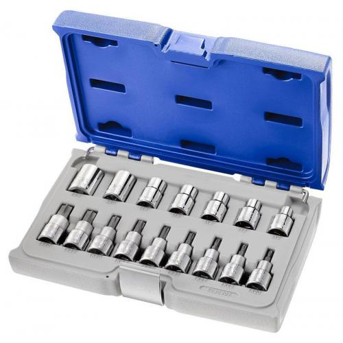 "E032907- 1/2"" TORX® Socket set, T20 - T60, E10 - E24"