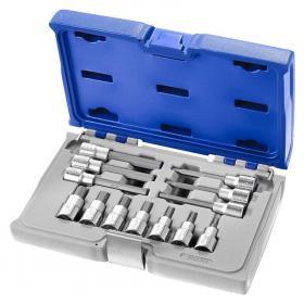 """E032906 - 1/2"""" Hex socket set, 4 - 12 mm"""