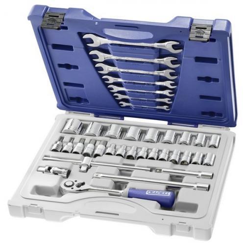 """E032940 - 1/2"""" Box of sockets, 8 - 34 mm"""