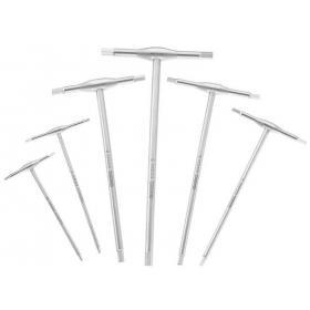 "E121229 - Set of hex keys, handle ""T"", 2,5 - 8 mm"